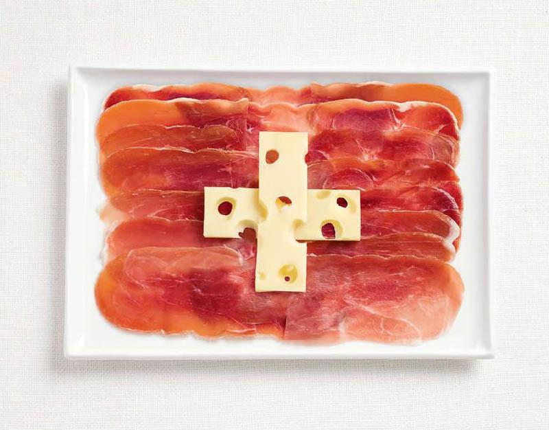Ελβετία - Καπνιστό κρέας και τυρί έμενταλ