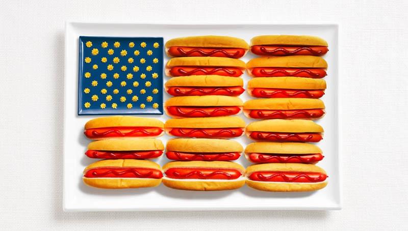 Ηνωμένες Πολιτείες Αμερικής - Χοτ ντόγκ, μουστάρδα, κέτσαπ και τυρί