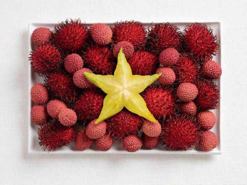 Βιετνάμ - Ραμπουτάν, λίτσι και φρούτο αστέρι