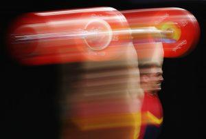 #14 Ο Ισπανός Αντρές Εντουάρντο Μάτα Πέρεθ στην άρση βαρών αντρών στα 77 κιλά.