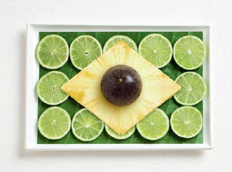 Βραζιλία - Φύλλο μπανάνας, λάιμ, ανανάς και φρούτο πάθους