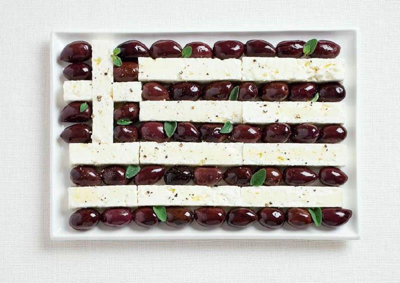 Ελλάδα - Ελιές καλαμών και φέτα