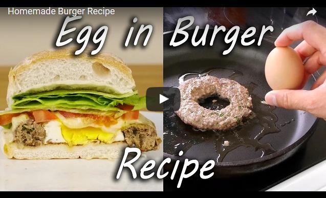Egg in burger - Αυγό στο χάμπουργκερ