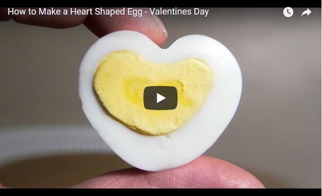 αυγά σε σχήμα καρδιάς!!