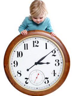 παιδί και ώρα (μάθηση)
